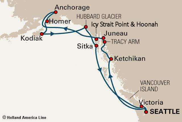 Alaskan Cruise  Introduction Amp Map